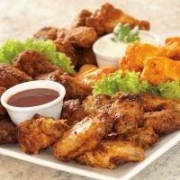 Assorted Chicken Wings, Fully Cooked