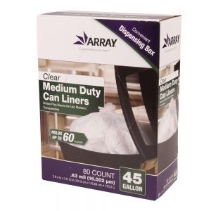 45 Gallon Clear Medium-Duty Can Liners