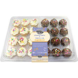 Vanilla & Chocolate Two-Bite MIni Cupcakes