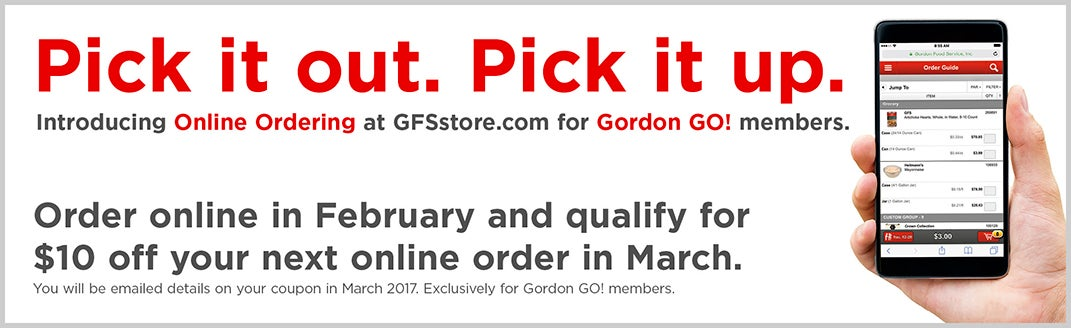 Pick it out. Pick it up. Order online in February & qualify for $10 off your next online order in March