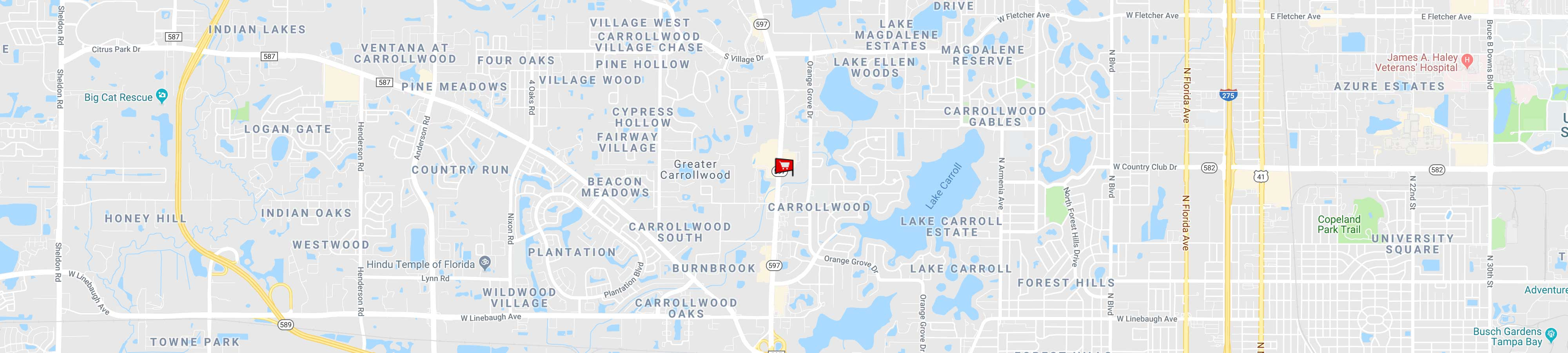 Carrollwood Store Map