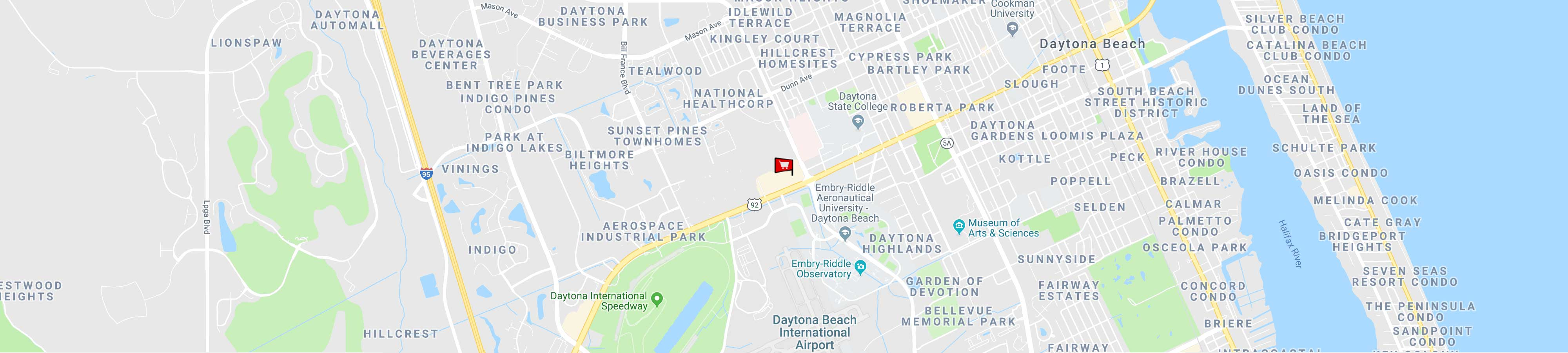 Daytona Beach Store Map