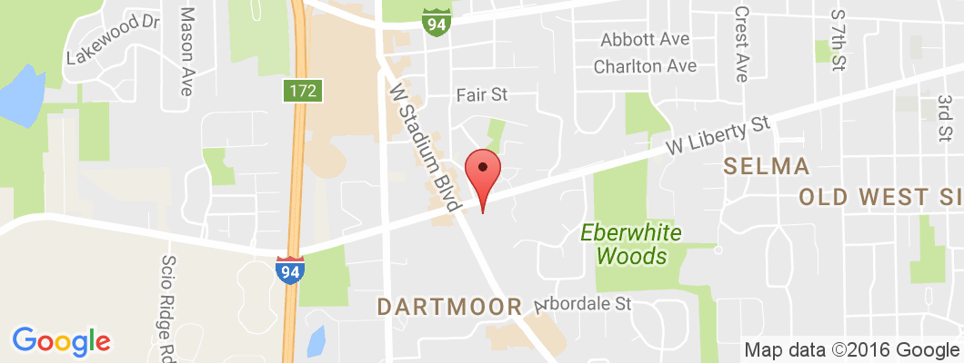 Ann Arbor Store Map