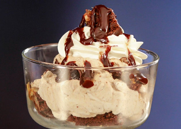 Brownie Parfaits with Baileys Mousse