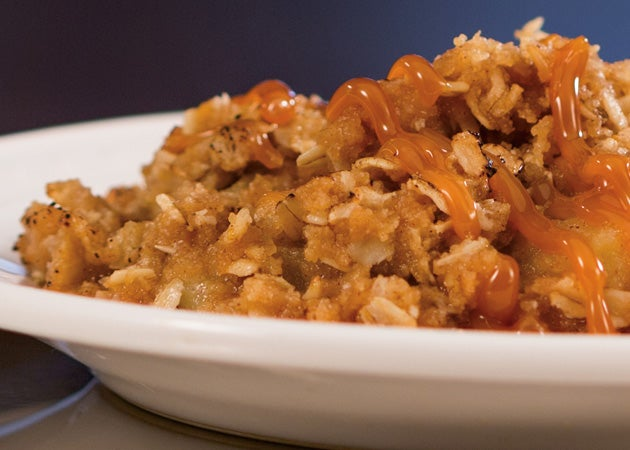 Caramel-Topped Apple Crisp