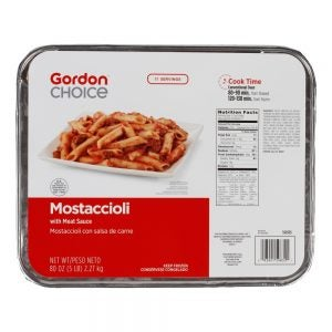 Mostaccioli with Meat Sauce