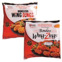 Pierce Boneless Breaded Wing Zings or Dings
