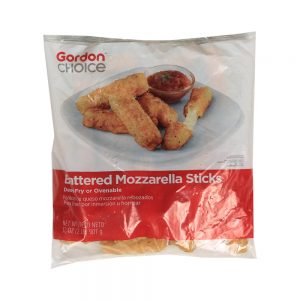 Battered Mozzarella Cheese Sticks