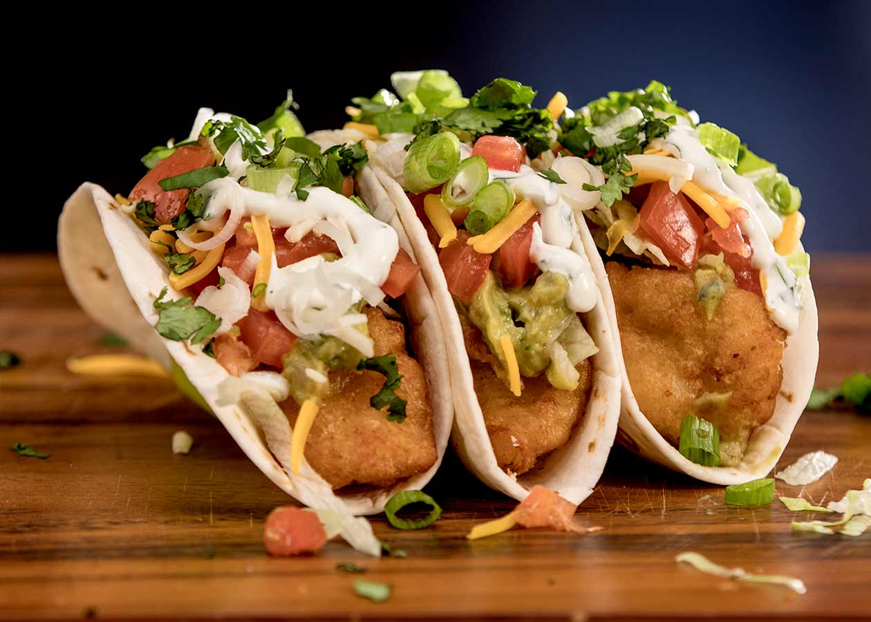 Beer Battered Shrimp Tacos