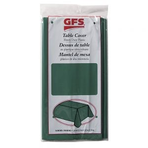 Hunter Green Plastic Tablecover
