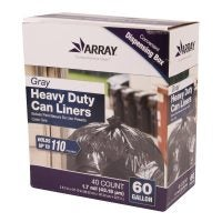 Gray Heavy Duty Can Liners