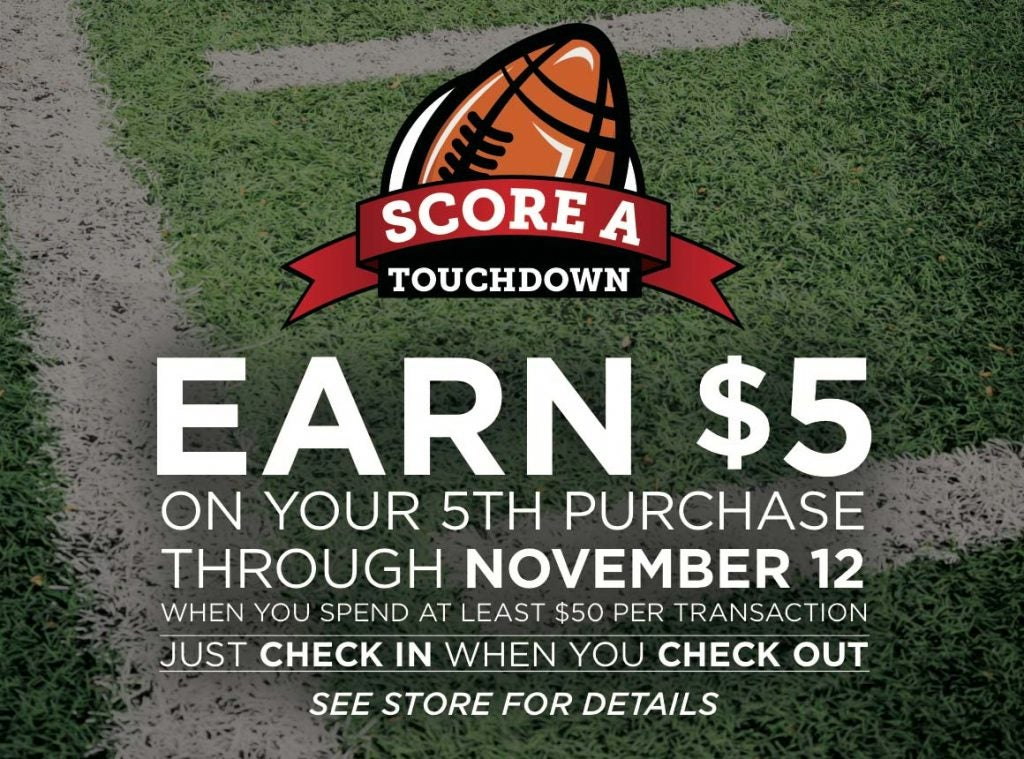 Earn $5 on your 5th purchase thru Nov 12
