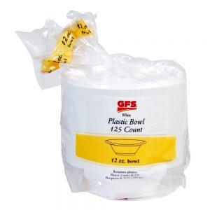 12 oz. White Plastic Bowls