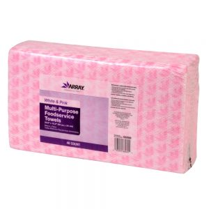 Multi-Purpose Wiper Towels - White/Pink