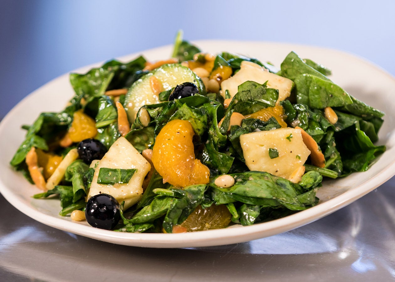 Fruit and Nut Spinach Salad