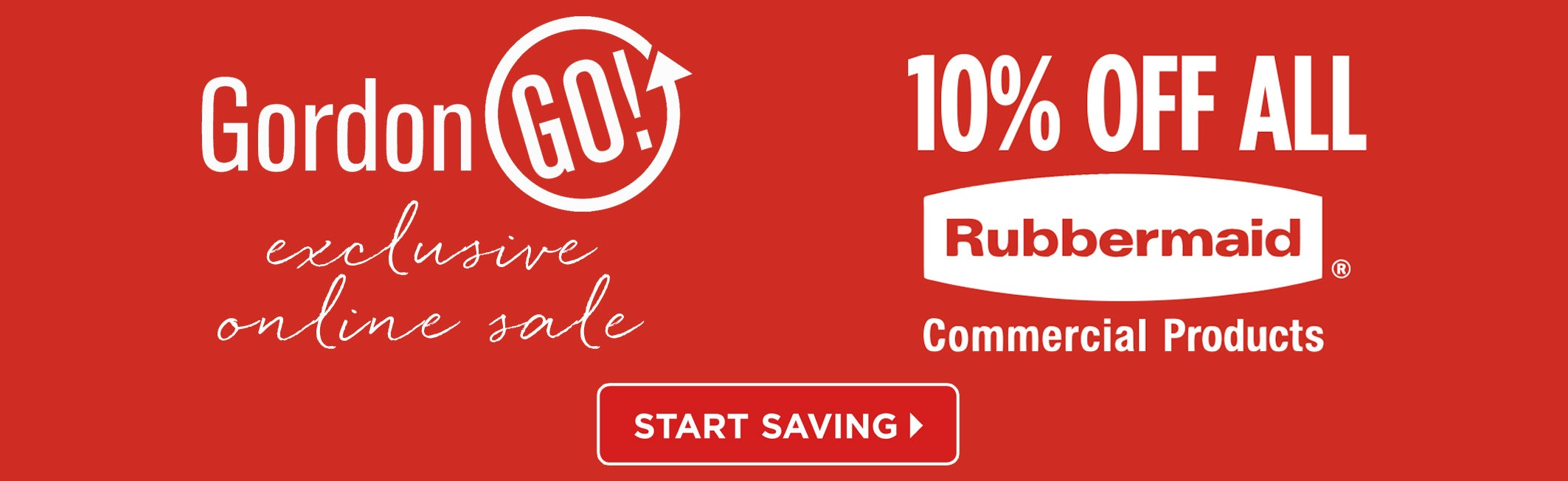 Exclusive Online Sale - 10% OFF ALL Rubbermaid Commercial Products