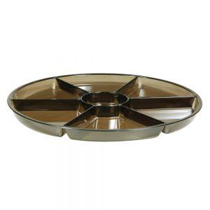 Round Compartment Platter