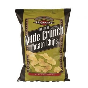 Brickman's Kettle Crunch Potato Chips - Jalapeño