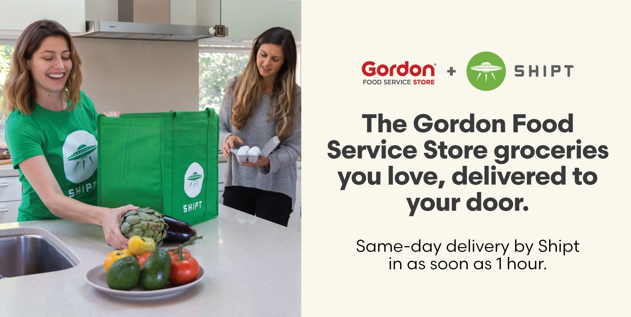 The Gordon Food Service Store groceries you love, delivered to your door. Same-day delivery by Shipt in as soon as 1 hour.