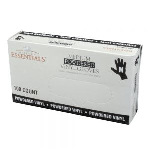 Powdered Vinyl Gloves - Medium