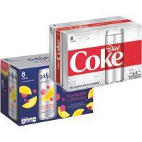 Diet Coke Slim Cans or Dasani Sparkling