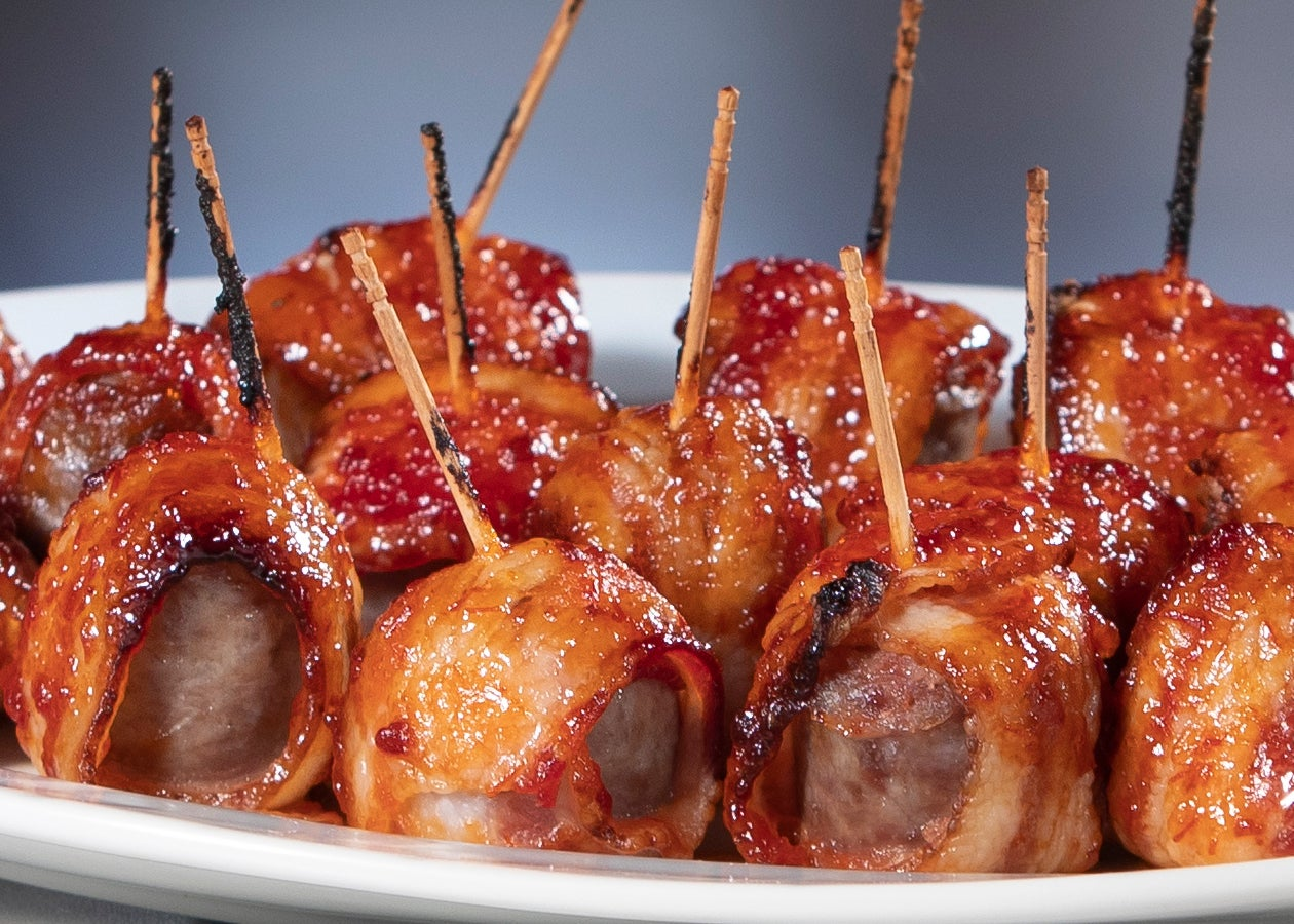 Bacon Wrapped Brats